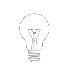 light bulb sketch vector image
