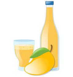 mango juice and fresh mango vector image