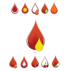 medic blood drops set vector image
