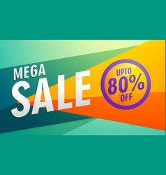 mega sale stylish modern marketing discount banner vector image