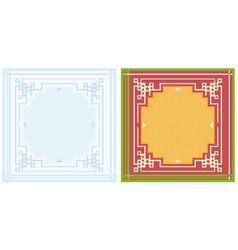 napkin design pattern vector image vector image