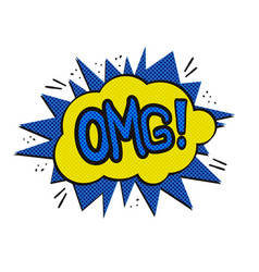 omg logo pap art vector image