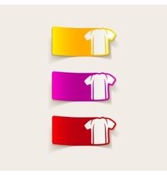 realistic design element shirt vector image