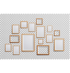 realistic photo frame set square a3 a4 vector image vector image