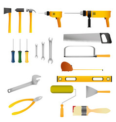 repair and construction tools set vector image