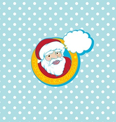 santa cartoon card vector image vector image