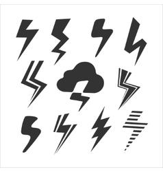 Set of symbols lightning vector