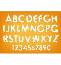 summer alphabet typography set with numbers vector image