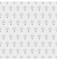 Tile light bulbs grey pattern or wallpaper vector image vector image