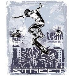 vert team skater vector image vector image