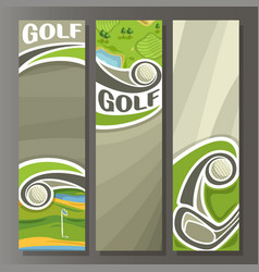 vertical banners for golf course vector image vector image
