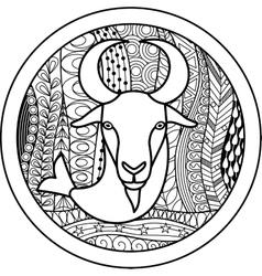 Zodiac sign Capricorn vector image vector image