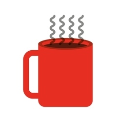 Cup coffee drink icon vector