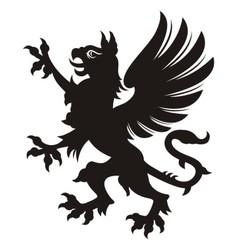 Griffin heraldic tattoo vector image