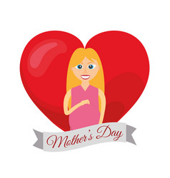 Mothers day card mom pregnancy vector