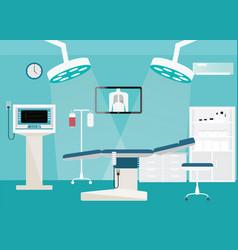 Medical hospital surgery operation room vector