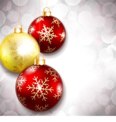 Christmas balls on a beautiful background vector