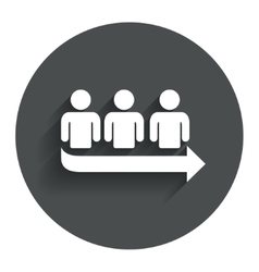 Queue sign icon long turn symbol vector