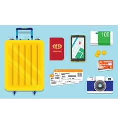 Icons set of traveling vector