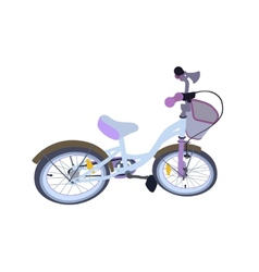 Children bicycle isolated vector