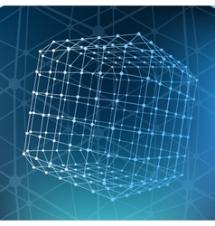 Abstract mesh polygonal background scope of vector