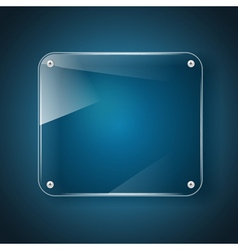 Glass background blue vector