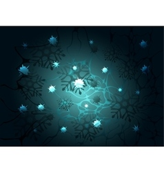 Snowflakes and stars on a night background eps10 vector