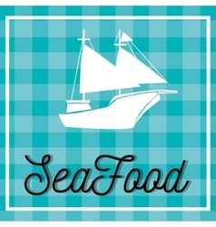 Sea food gastronomy vector