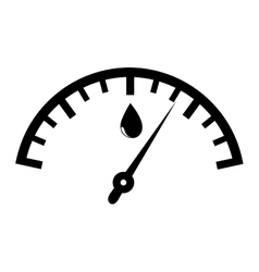 Fuel quantity indicator icon vector