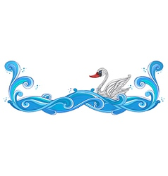 A border with a swan vector image