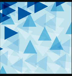 Background template with blue triangle shapes vector