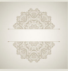 background with round lace pattern oriental card vector image vector image
