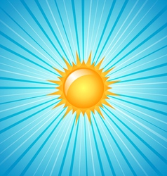 big shining summer sun vector image vector image