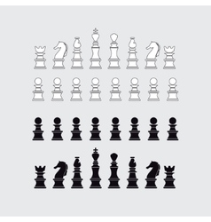 Chess pieces silhouette vector