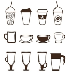 Coffee icons set buttons for web and apps vector
