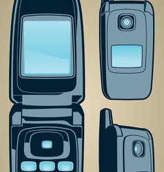 color cellphone set vector image vector image