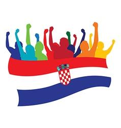 Croatia fans vector image