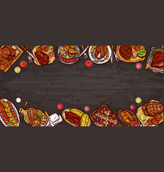 Culinary banner barbecue vector