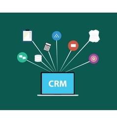 Customer relationship management crm vector
