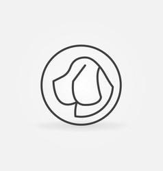 dog head in circle icon vector image
