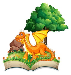 Dragon and book vector image