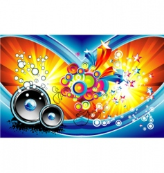 fantasy music background vector image vector image