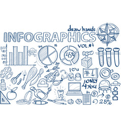 hand draw infographics vol 4 science vector image vector image