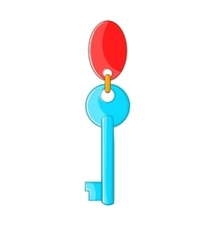 Hotel key icon in cartoon style vector