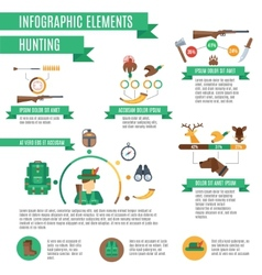 Hunting infographics set vector