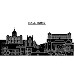 Italy rome architecture city skyline vector
