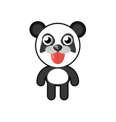 kawaii panda animal toy vector image vector image