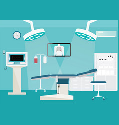 Medical hospital surgery operation room vector