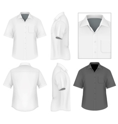 Mens button down shirt design template vector