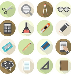 Modern Flat Design Education Icons vector image